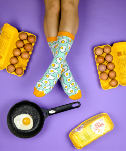 Eggs Socks Sockgaim Purple Yellow Aqua